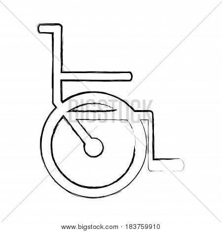 blurred silhouette abstract wheelchair flat icon vector illustration