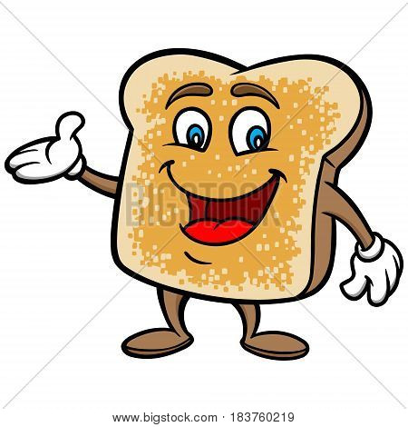 A vector illustration of a Toasted Bread character.