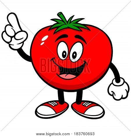 A vector illustration of a cartoon Tomato.