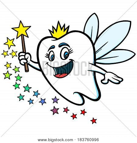 A vector illustration of a Tooth Fairy Mascot.