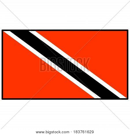 A vector illustration of a Flag of Trinidad and Tobago.