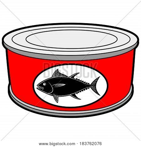 A vector illustration of a can of Tuna.