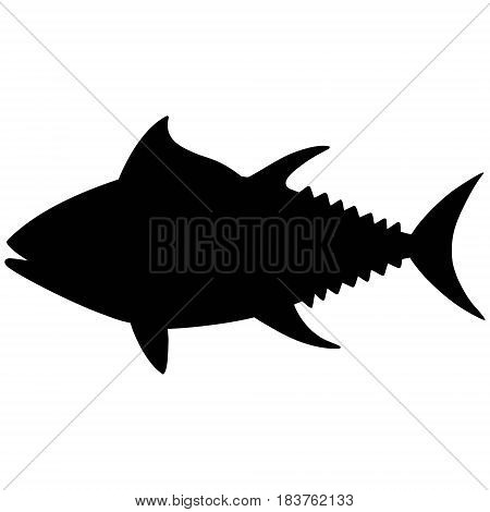 A vector illustration of a Tuna silhouette.