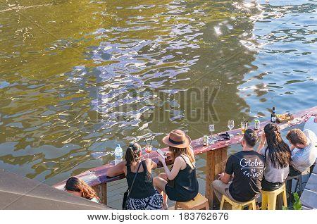 People Having Drink In Pony Fish Bar