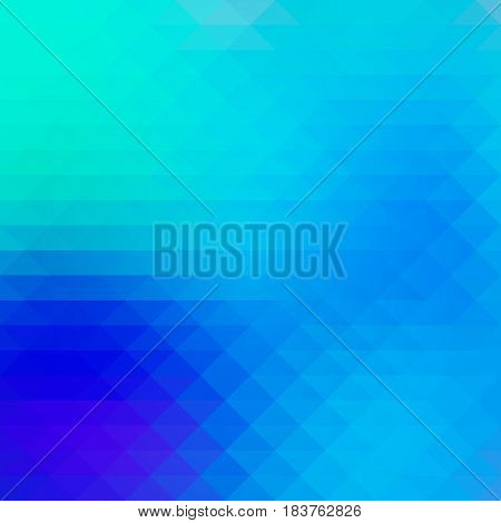 Turquoise blue purple abstract geometric background with rows of triangles square
