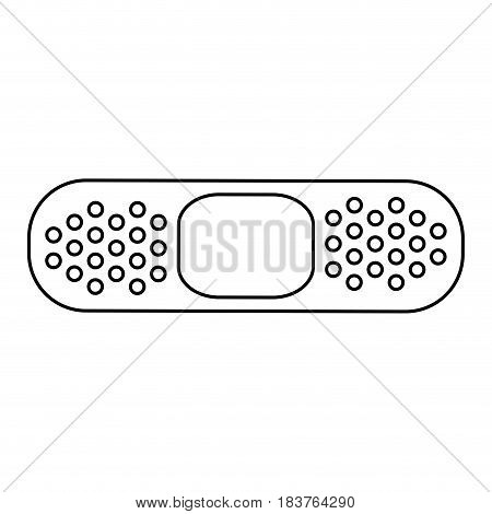 adhesive bandage healthcare icon image vector illustration design