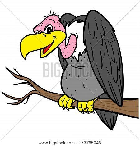 A vector illustration of a cartoon Vulture.