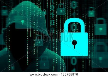 Computer hacker or Cyber security concept background