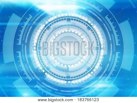 Abstract technical futuristic digital technology background design