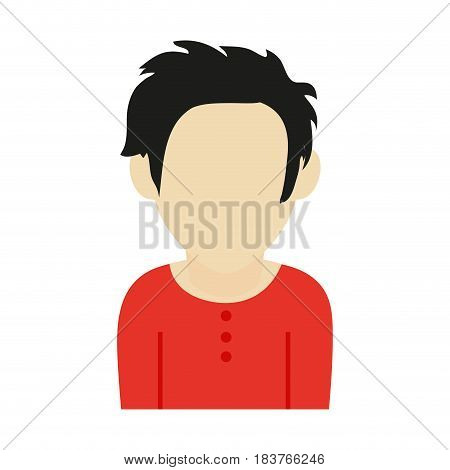 faceless man with scruffy hair icon image vector illustration design