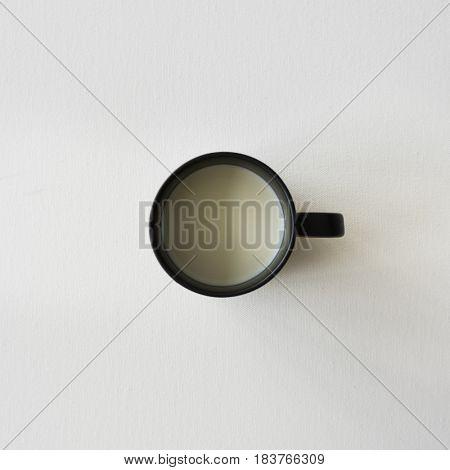 Soymilk Milk Black Cup On A Table