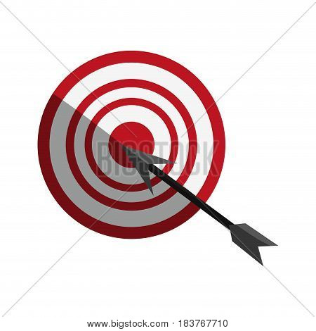 target or bullseye with arrow icon image vector illustration design