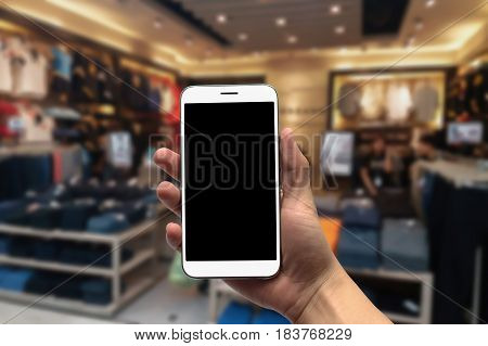 Blurred photo Blurry image Department Store background