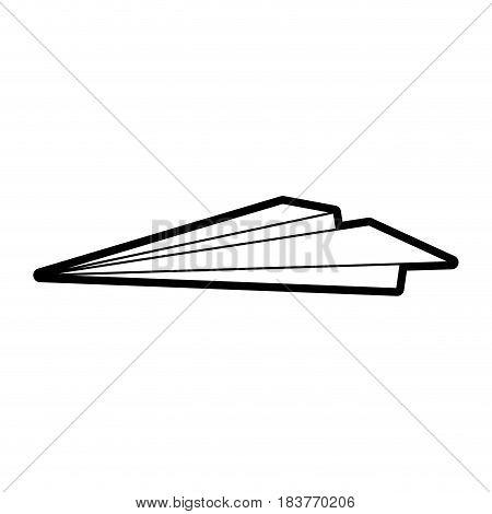 paper plane icon image vector illustration design  black line