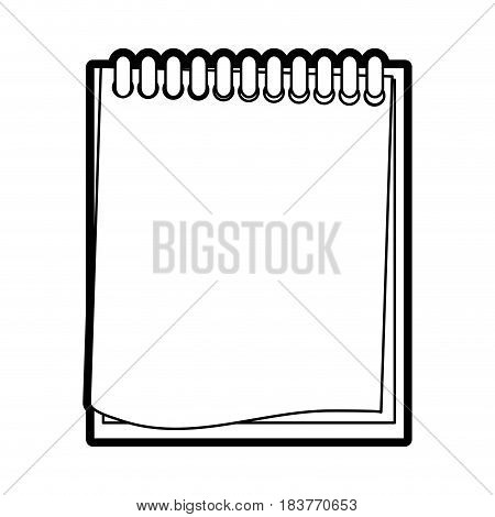 wired notepad icon image vector illustration design  black line