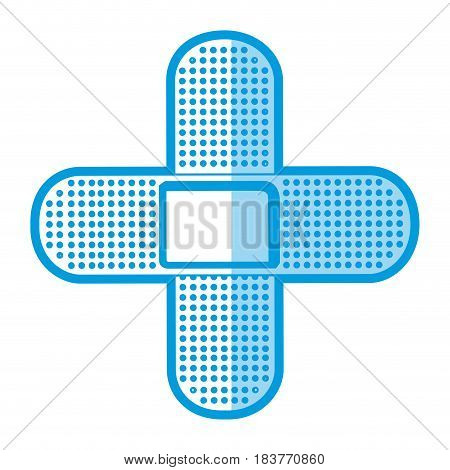 blue shading silhouette couple of cures in cross form vector illustration