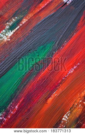 Brush strokes multicolored oil paint macro. Motley Abstract creative background