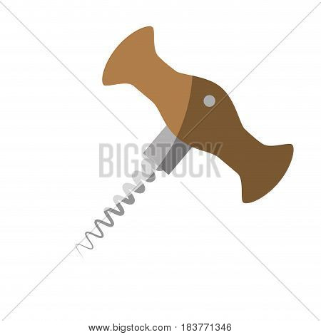 Corkscrew kitchen utensil icon vector illustration graphic design