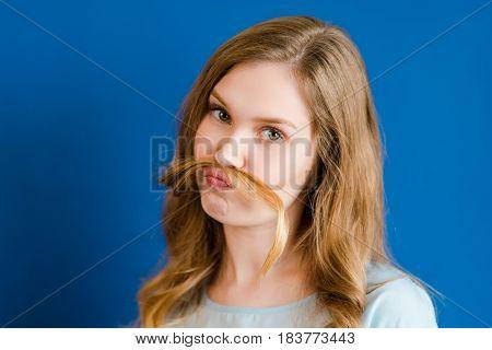 Girl Mustache From Hair