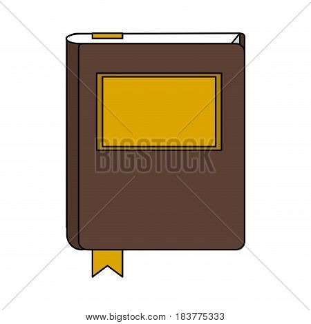 color graphic court book with label vector illustration