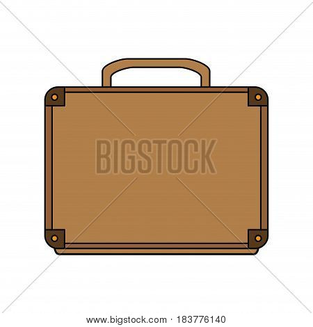 color graphic executive briefcase with handle vector illustration
