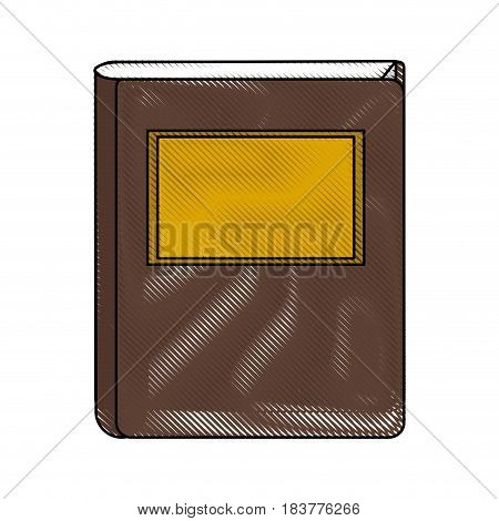 color blurred stripe of court book with label vector illustration