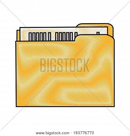 color blurred stripe of court documents folder vector illustration