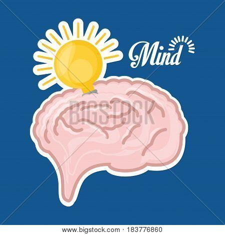 brain inspired in big ideas, vector illustration