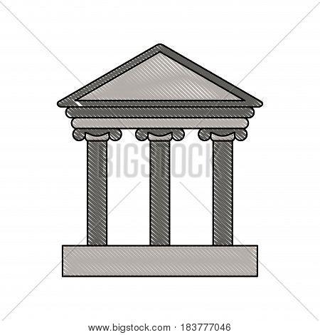 color blurred stripe of parthenon icon vector illustration
