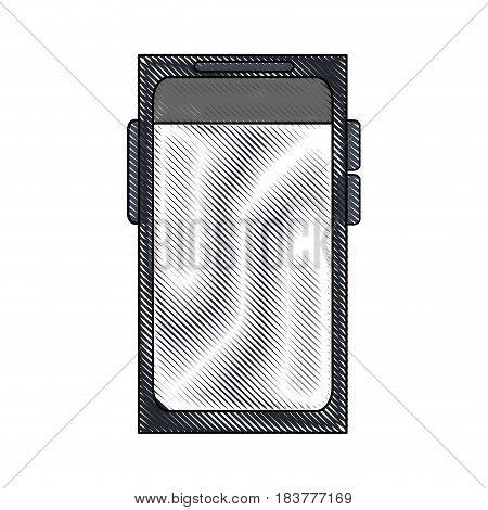 color blurred stripe of tech voice recorder icon vector illustration