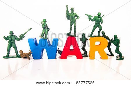 the  word war with plastic soldiers
