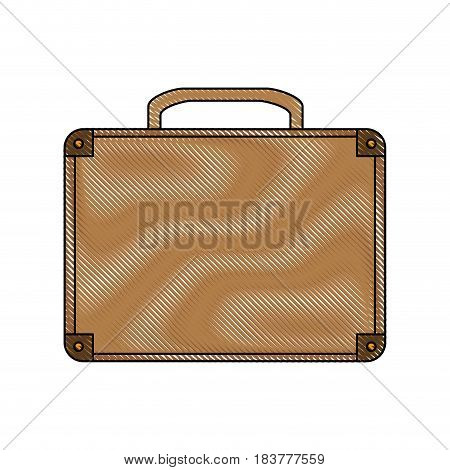 color blurred stripe of executive briefcase with handle vector illustration