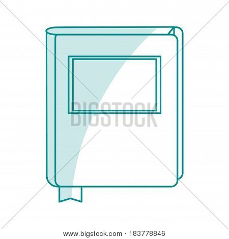 blue silhouette shading court book with label vector illustration