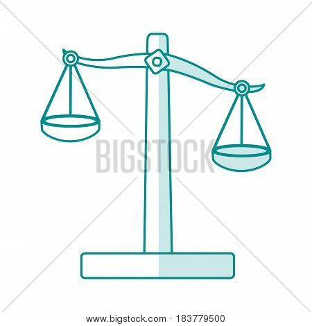 blue silhouette shading balance symbol of justice vector illustration