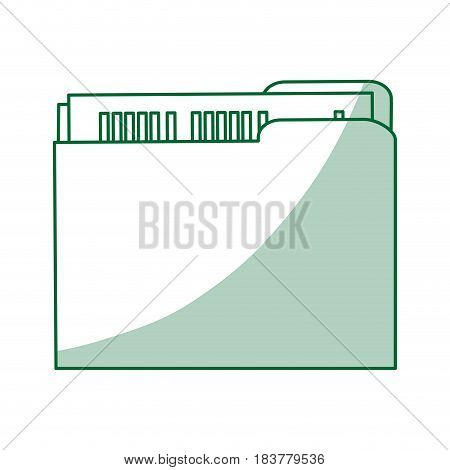 green silhouette shading court documents folder vector illustration