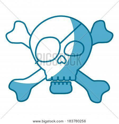 Pirate skull symbol icon vector illustration graphic design