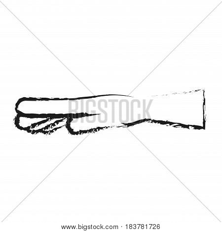 blurred silhouette hand with extended fingers vector illustration