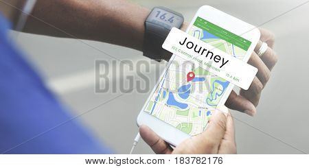 Map GPS Location Direction Position Graphic