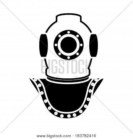Deep sea diver icon vector illustration graphic design