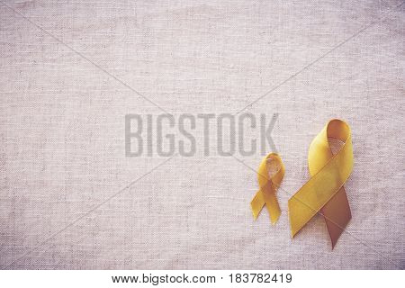 yellow gold ribbons Sarcoma Awareness Bone cancer Liver cancer Bladder Cancer childhood cancer awareness