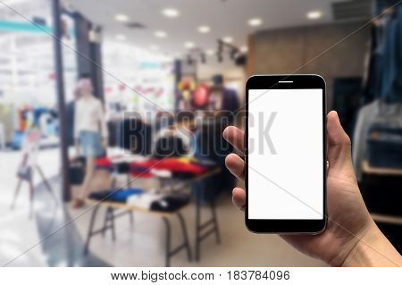 blurred photo, Blurry image, inside of the clothes shop, background