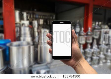 blurred photo, Blurry image, Stainless steel shop, background