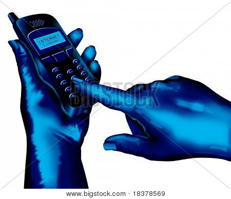 Hand dialling mobile
