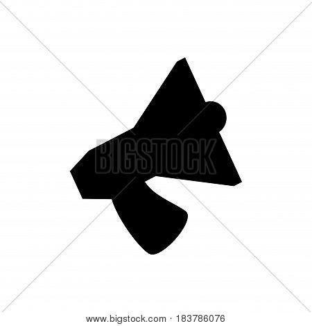 Bullhorn silhouette symbol icon vector illustration graphic design