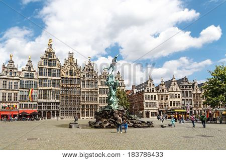 City Hall And Old Town In Antwerp