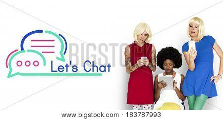 Women friends having conversation