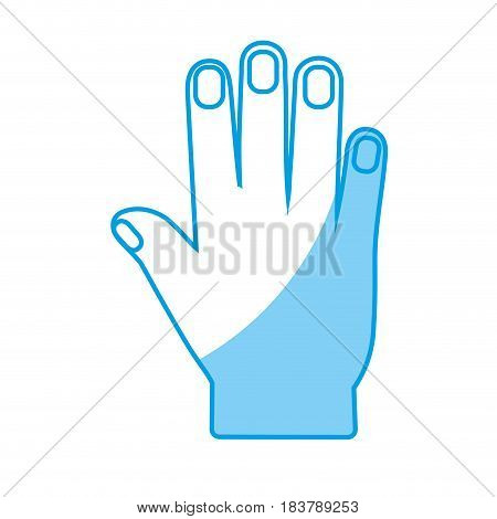human hand icon over white background. vector illustration