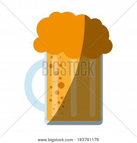 glass of beer icon image vector illustration design