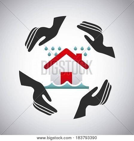 house insurance concept icon vector illustration design