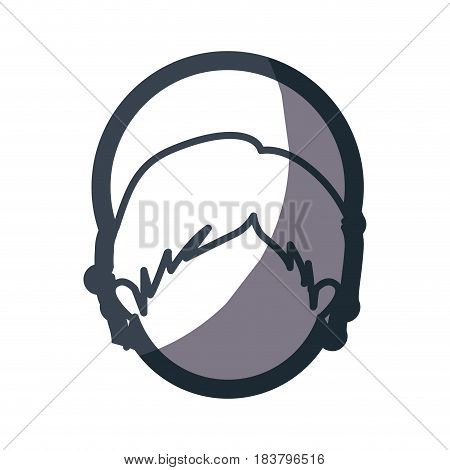grayscale silhouette of faceless head of child jesus vector illustration